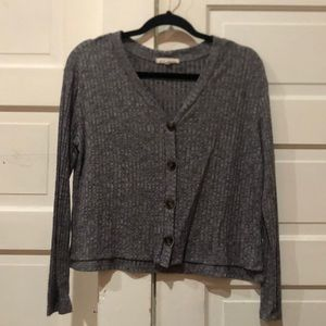 Button Up cropped cardigan
